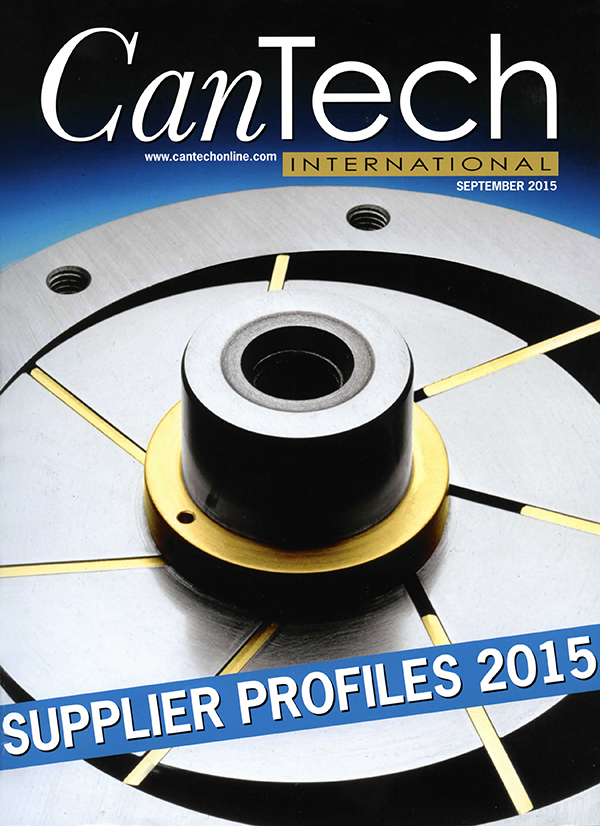 Cover page on CanTech International - September 2015