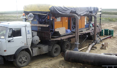 Mobile Pneumofore Vacuum System for Pipeline Drying for Gazprom
