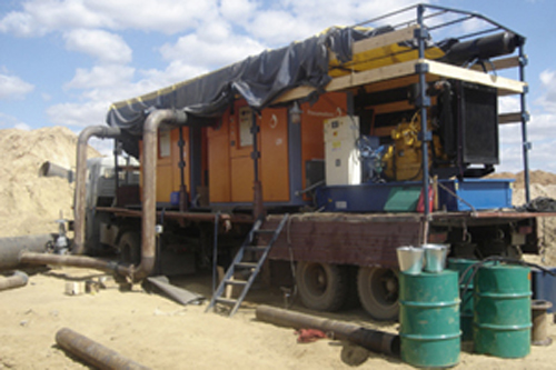 Pneumofore Vacuum Drying Mobile System for Gazprom Gas Pipelines