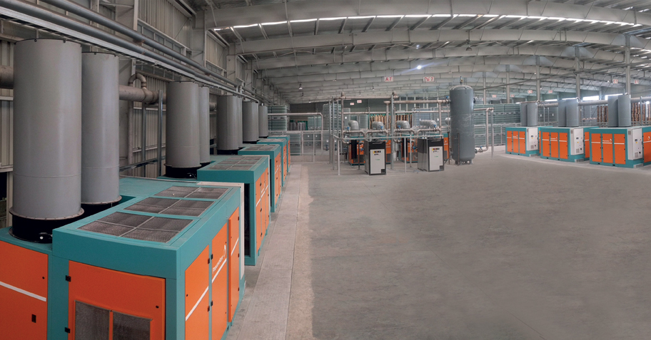 Pneumofore Centralized Compressed Air System for Glass Manufacturing