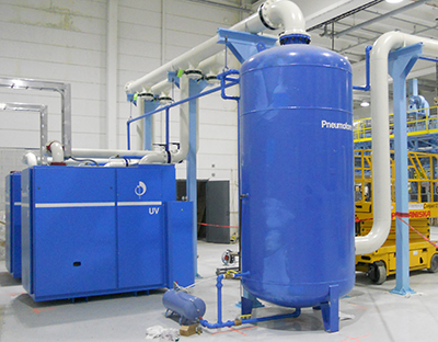 Pneumofore Centralized Vacuum System for Can Production at Ball Packaging