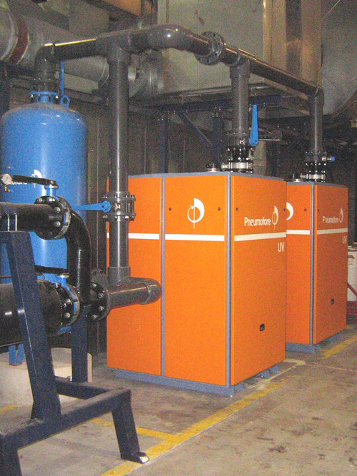 Pneumofore Centralized Vacuum System for Can Production installed in 2006 at Crown