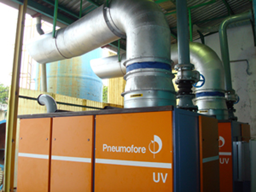 Pneumofore Centralized Vacuum System for Cans Production at United Can
