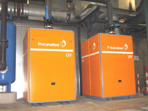 Pneumofore Centralized Vacuum System for Cans Production installed in 2006 at Crown