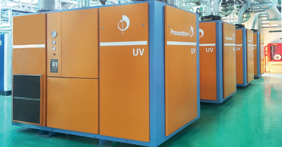Pneumofore Centralized Vacuum System for Glass Production