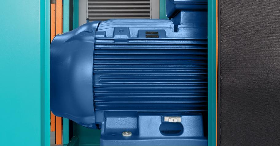 Pneumofore Rotary Vane Air End - A Series Air Compressors - Motor
