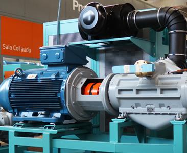 Pneumofore Rotary Vane Compressor - Air End Assembly
