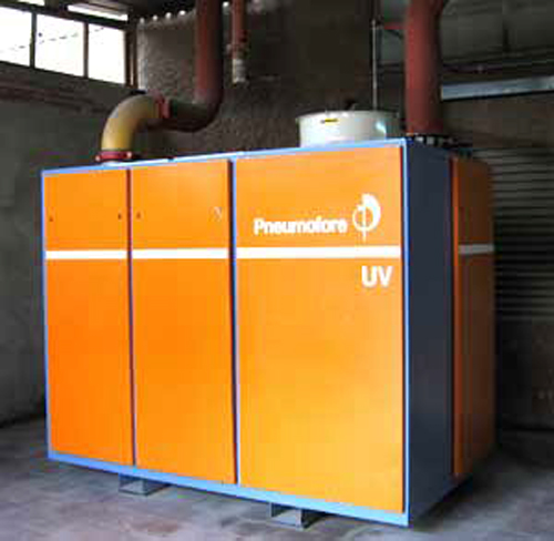 Pneumofore Rotary Vane Vacuum Pump for Glass Manufacturing installed in 2005 in the Middle East