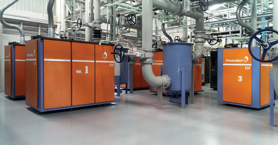 Pneumofore Rotary Vane Vacuum Pumps - Centralized Vacuum System for Can Production