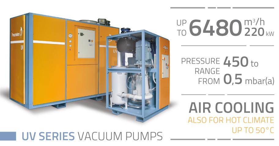 Pneumofore Rotary Vane Vacuum Pumps - UV Series