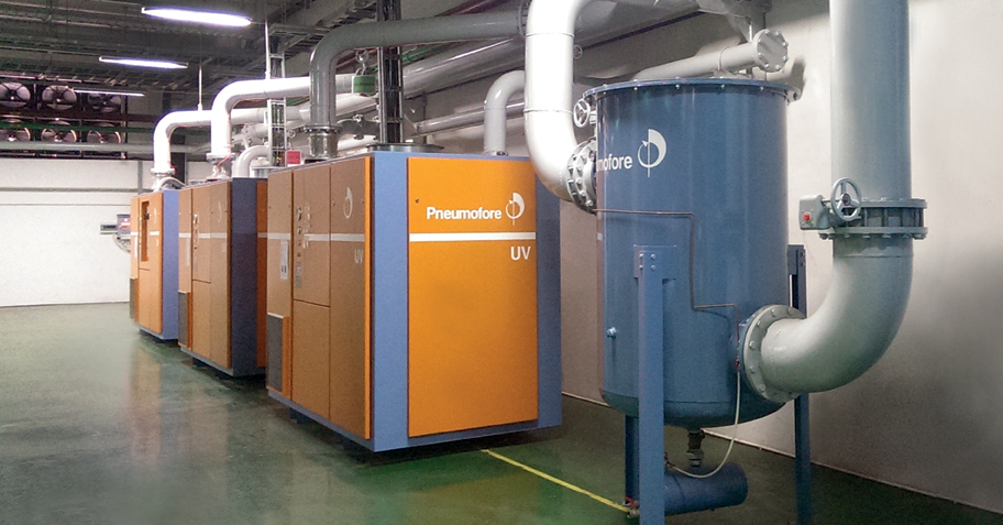 Pneumofore UV Series Vacuum Pumps - Centralized Vacuum System for Glass Production