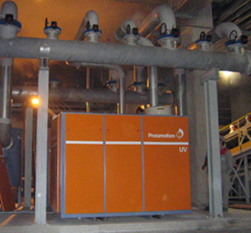 Pneumofore Vacuum Pump for Glass Production installed in 2008 at Sisecam