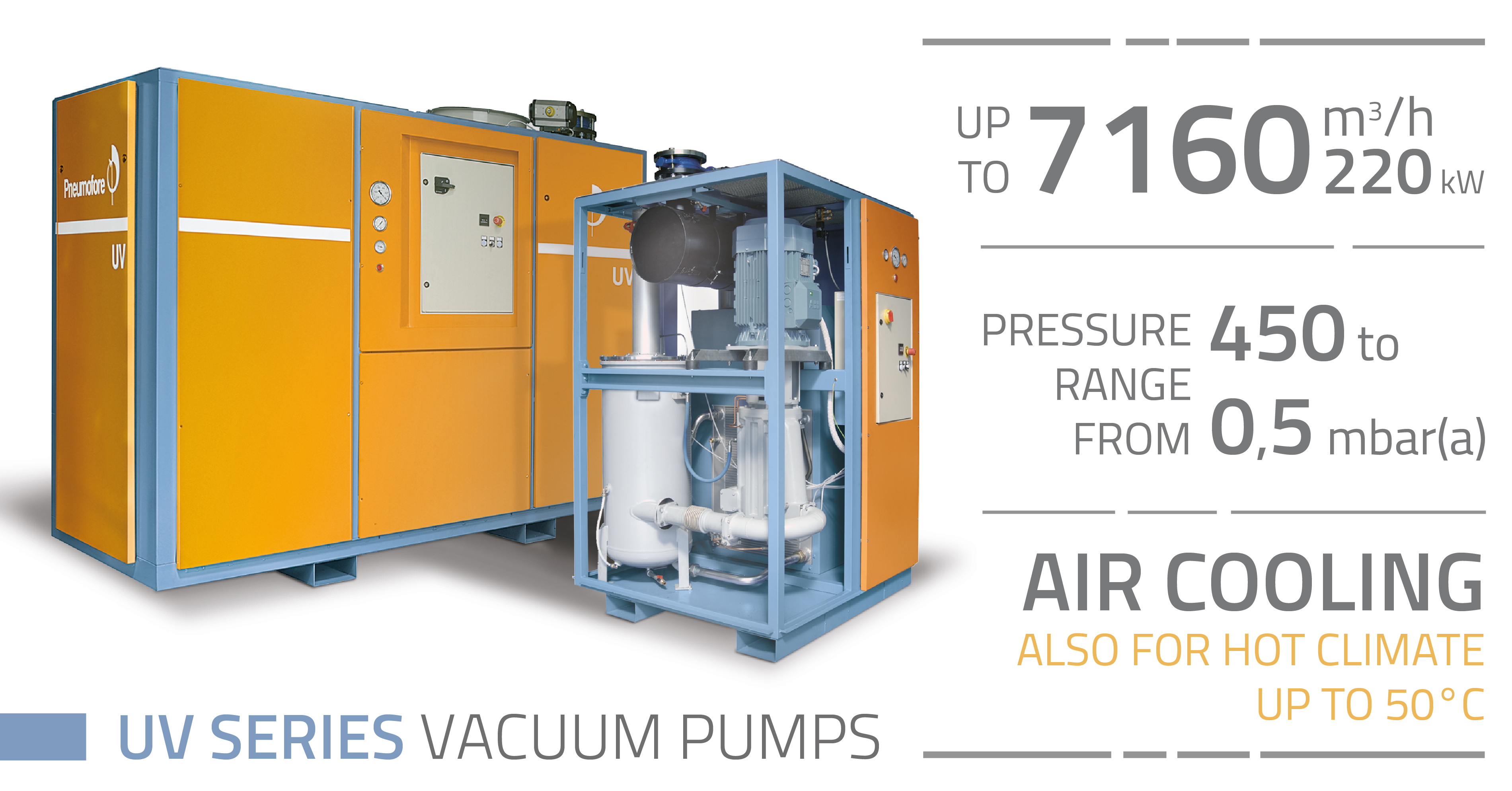 Pneumofore Rotary Vane Vacuum Pumps - UV Series