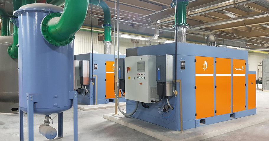 Pneumofore Rotary Vane Vacuum Pumps - Centralized Vacuum System for Glass Production